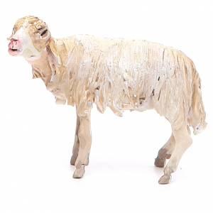 Mouton broutant 13cm crèche terre cuite Angela Tripi s2