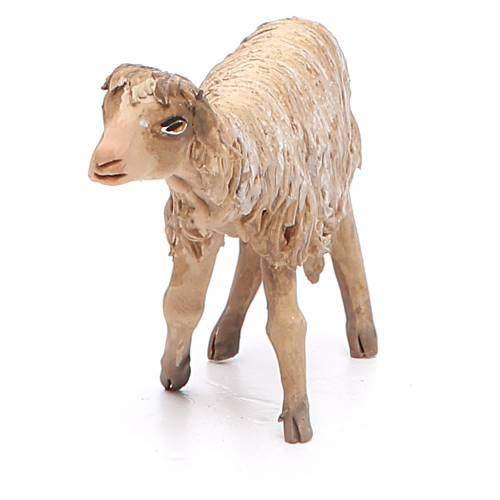 Mouton debout 13cm crèche terre cuite Angela Tripi s4