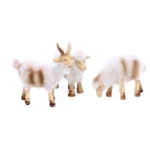 Moutons en résine peluche 8/10 cm assortis 5 pcs s2