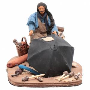 Neapolitan Nativity Scene: Moving umbrella maker 12 cm  Neapolitan nativity scene