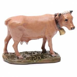 Animali presepe: Mucca in resina per presepe 10 cm Linea Martino Landi