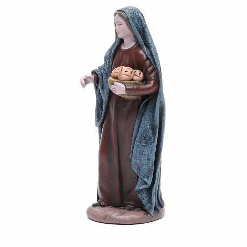 Mujer con cesta de pan 17 cm Figura Terracota s2