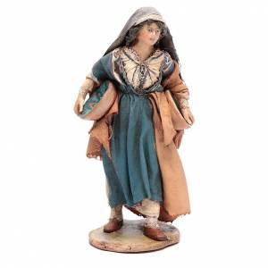 Pesebre Angela Tripi: Mujer con plato 13 cm belén Angela Tripi