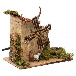 Mulini per Presepi: Mulino a vento elettrico 1,2w 10giri/min con pecore