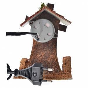 Mulini per Presepi: Mulino a vento in legno e sughero cm 12x10x6