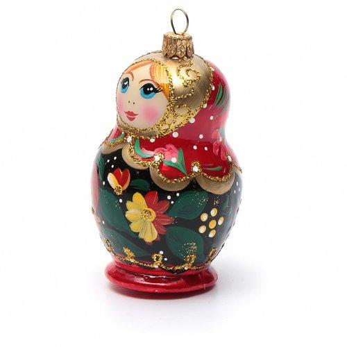 Muñeca Rusa adorno vidrio soplado para Árbol de Navidad s6