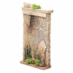 Ambientazioni, botteghe, case, pozzi: Muro di cinta 25x15x5 cm per presepe