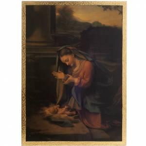 Natividad el Correggio estampa sobre madera s1