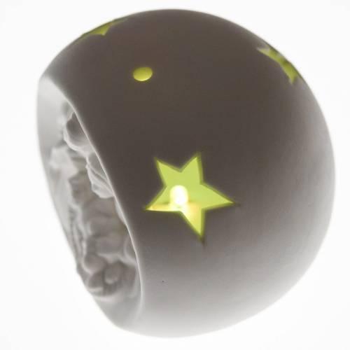 Natividad esfera cerámica luz les colorada s4