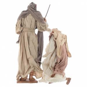Nativité 55 cm en résine tissu style provençal s5
