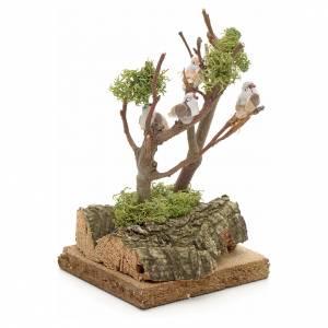 Moos, Trees, Palm trees, Floorings: Nativity accessory, bare tree with birds