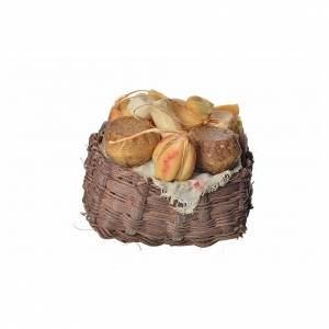 Nativity accessory, cheese basket in wax, 10x7x8cm s1