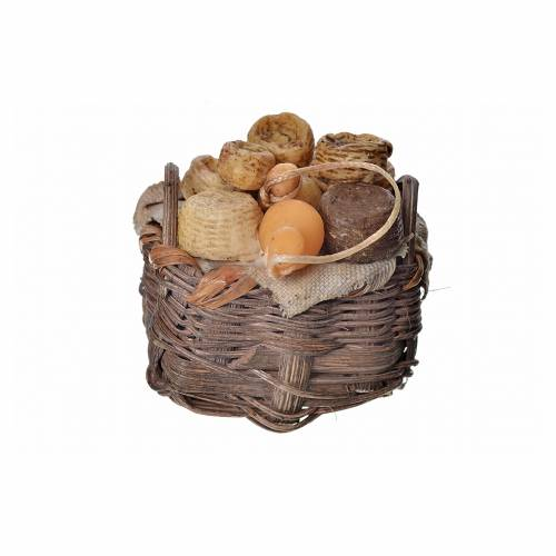 Nativity accessory, cheese basket in wax, 4.5x5.5x6cm s3