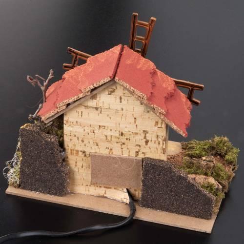 Nativity accessory, electric windmill 20x14 cm s3