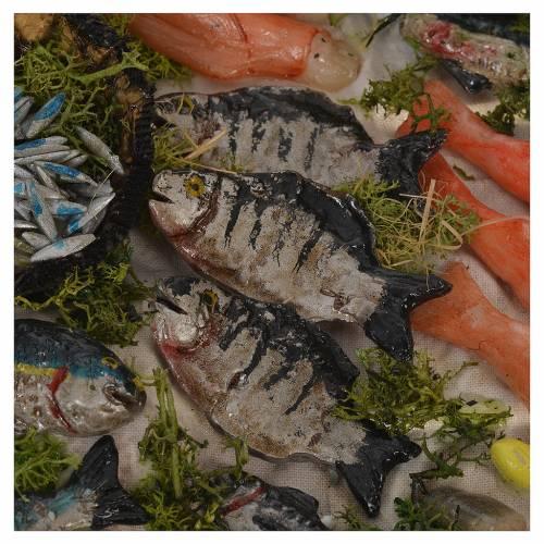 Nativity accessory, fishmonger stall in wax 22x21.5x17cm s5