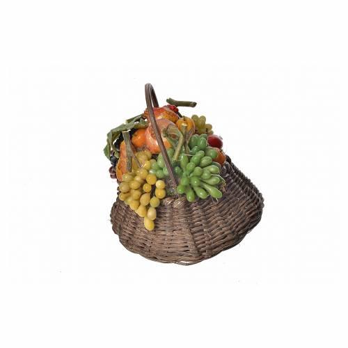 Nativity accessory, persimmon basket in wax, 10x7x8cm s3