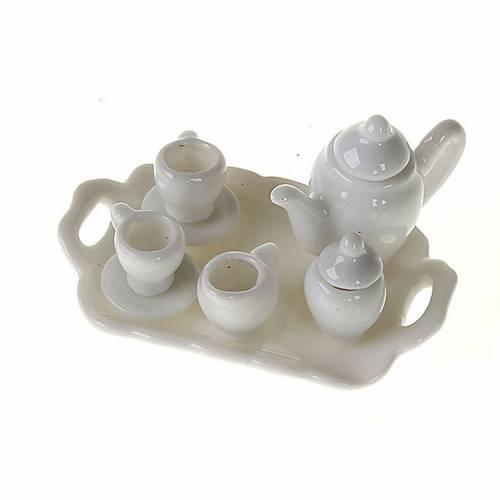 Nativity accessory, Tea set in white porcelain s1