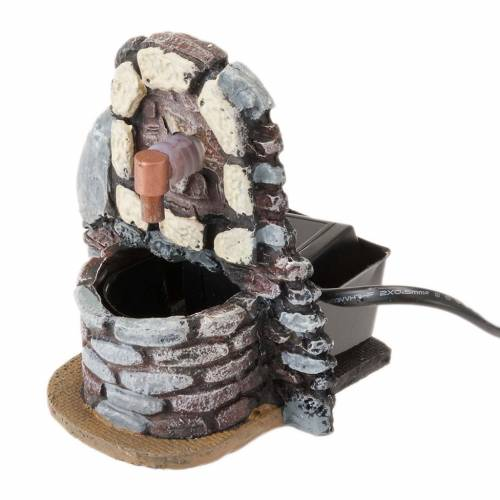 Nativity accessory, water fountain with pump 9x7x10 cm s1