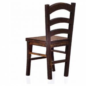Nativity accessory, wooden chair 6.5x3x3cm s2