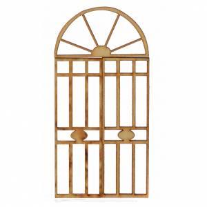 Balustrade, doors, railings: Nativity accessory, wooden gate, 3 pieces 10.5x5cm