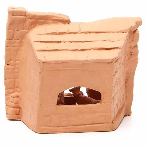 Nativity arch natural terracotta 20x20x13cm s4