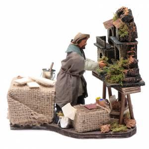 Neapolitan Nativity Scene: Nativity artist, animated Neapolitan Nativity figurine 12cm