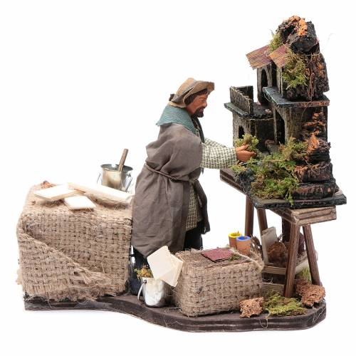 Nativity artist, animated Neapolitan Nativity figurine 12cm s1