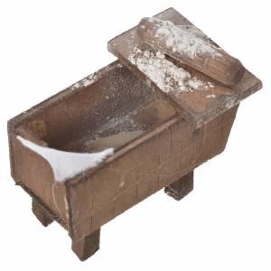 Nativity bread storage chest in terracotta 5x7.5x4cm s8