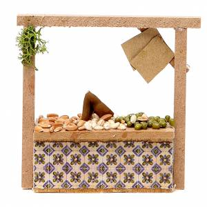 Miniature food: Nativity cereal and olives stall in wax, 10.5x11x4cm