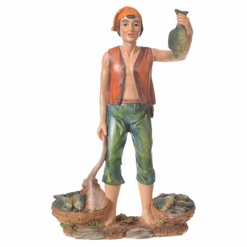 Nativity figurine, fishmonger, 30cm resin s1