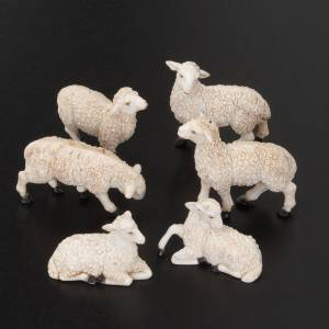 Animals for Nativity Scene: Nativity figurine, sheep measuring 10cm, 6 pieces