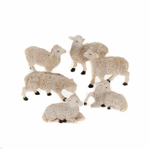 Nativity figurine, sheep measuring 10cm, 6 pieces s1