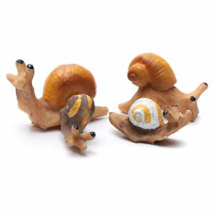 Animals for Nativity Scene: Nativity figurines, snails in resin measuring 2 cm, 4 pieces