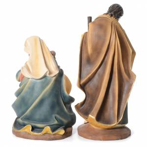 Nativity in resin with 3 figurines measuring 1 meter s3