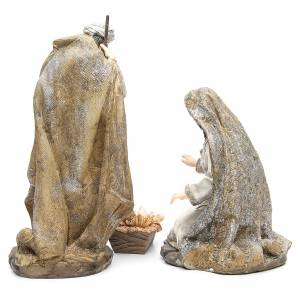 Nativity measuring 31.5cm, 3 figurines in resin with Cream Gold finish s4