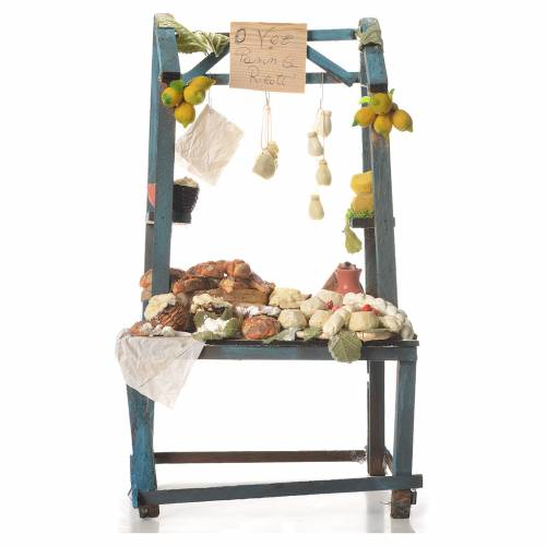 Nativity ricotta cheese stall, 41x25x15cm s6