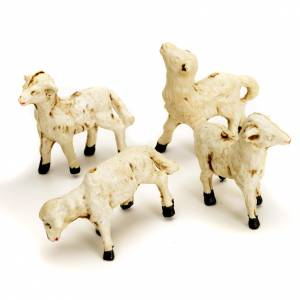 Animals for Nativity Scene: Nativity scene accessories, 4-piece sheep figurines 8cm