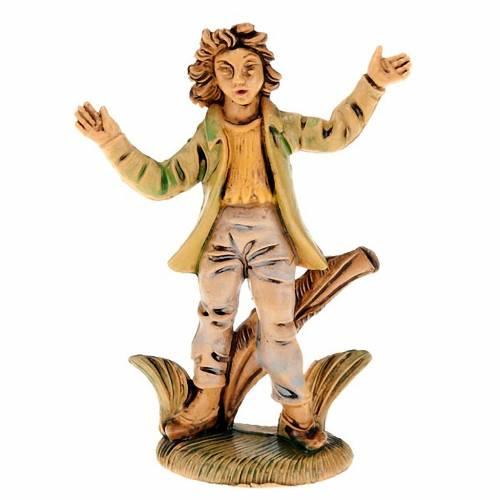 Nativity scene accessories, amazed shepherd figurine 8cm s1