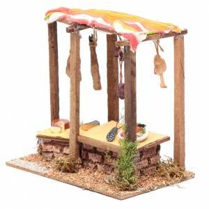 Settings, houses, workshops, wells: Nativity scene deli counter15x20x10 cm