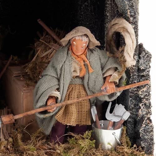 Nativity scene figurine farmer in the shed animated 10cm figurin s2