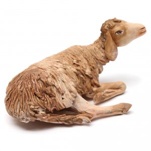 Nativity scene figurine, lying sheep 18cm, Angela Tripi s2