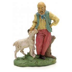 Nativity scene figurine, shepherd with sheep 10cm s1