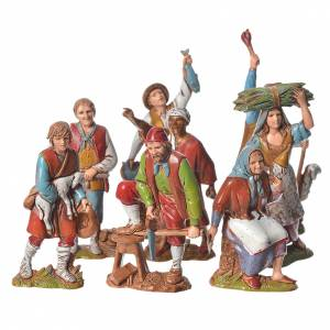 Nativity Scene figurines 8cm, working characters 8pcs s1