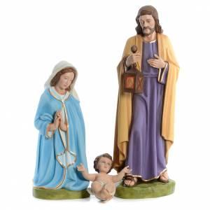 Fiberglass statues: Nativity scene in painted fiberglass, 100cm