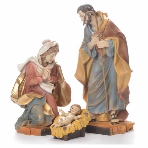 Nativity scene in resin, 30cm coloured s1
