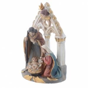 Nativity scene in resin measuring 10.5cm s2