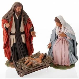 Neapolitan Nativity Scene: Nativity scene set clay 24 cm tall