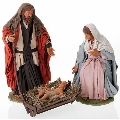 Nativity scene set clay 24 cm tall s1