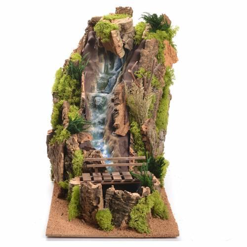 Nativity Scene setting, waterfall measuring 40x26x50cm s1