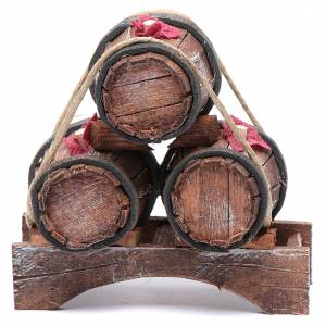Miniature tools: Nativity scene stacked up barrels  10x10x5 cm
